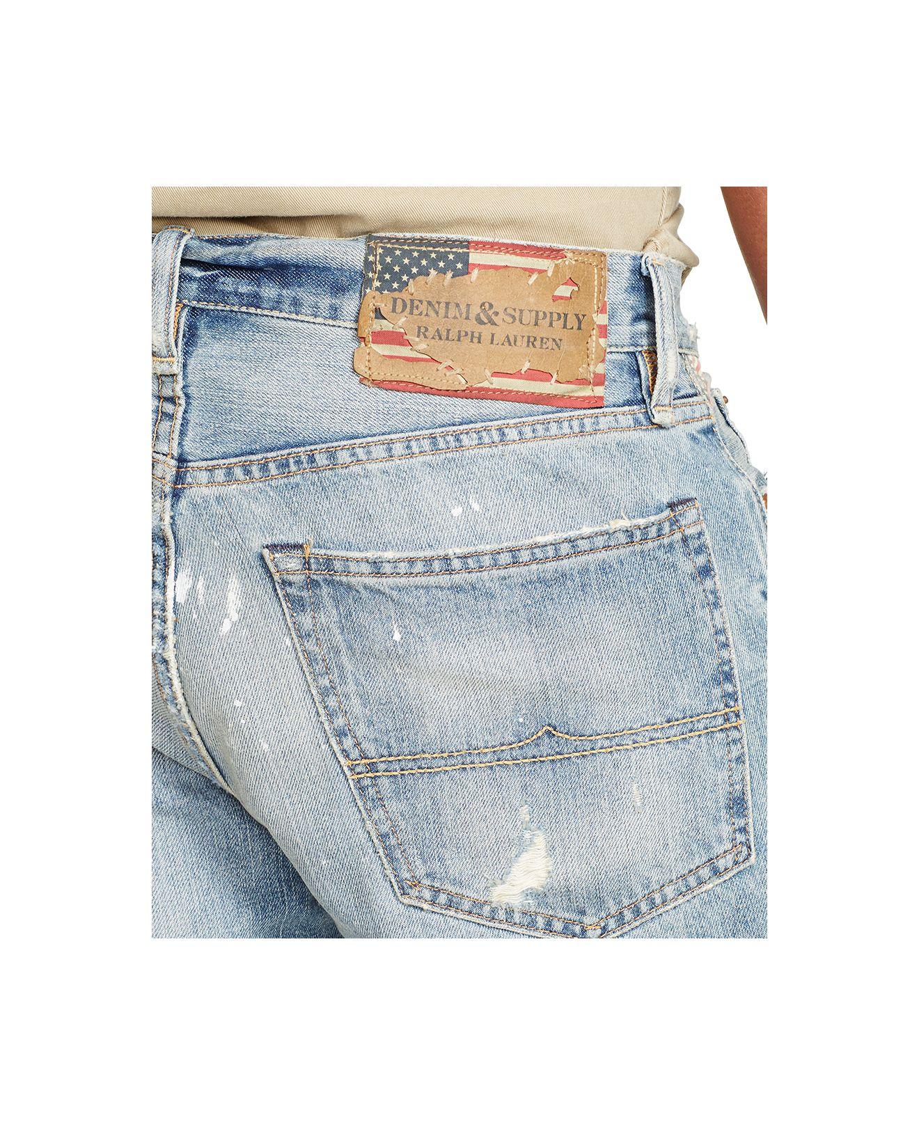 7c478ee15 Denim   Supply Ralph Lauren Straight-fit Kingwood Shorts in Blue for ...
