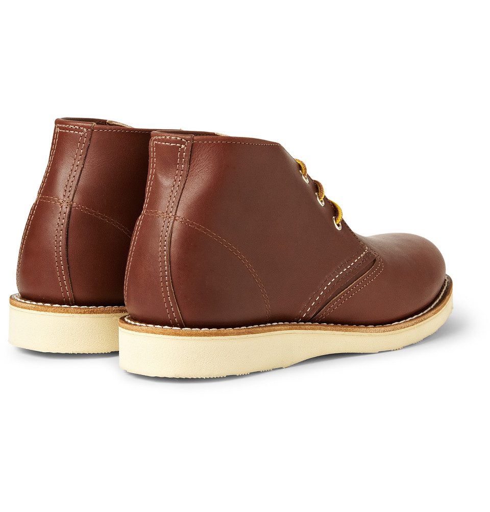 Lyst Red Wing Work Chukka Rubbersoled Leather Boots In