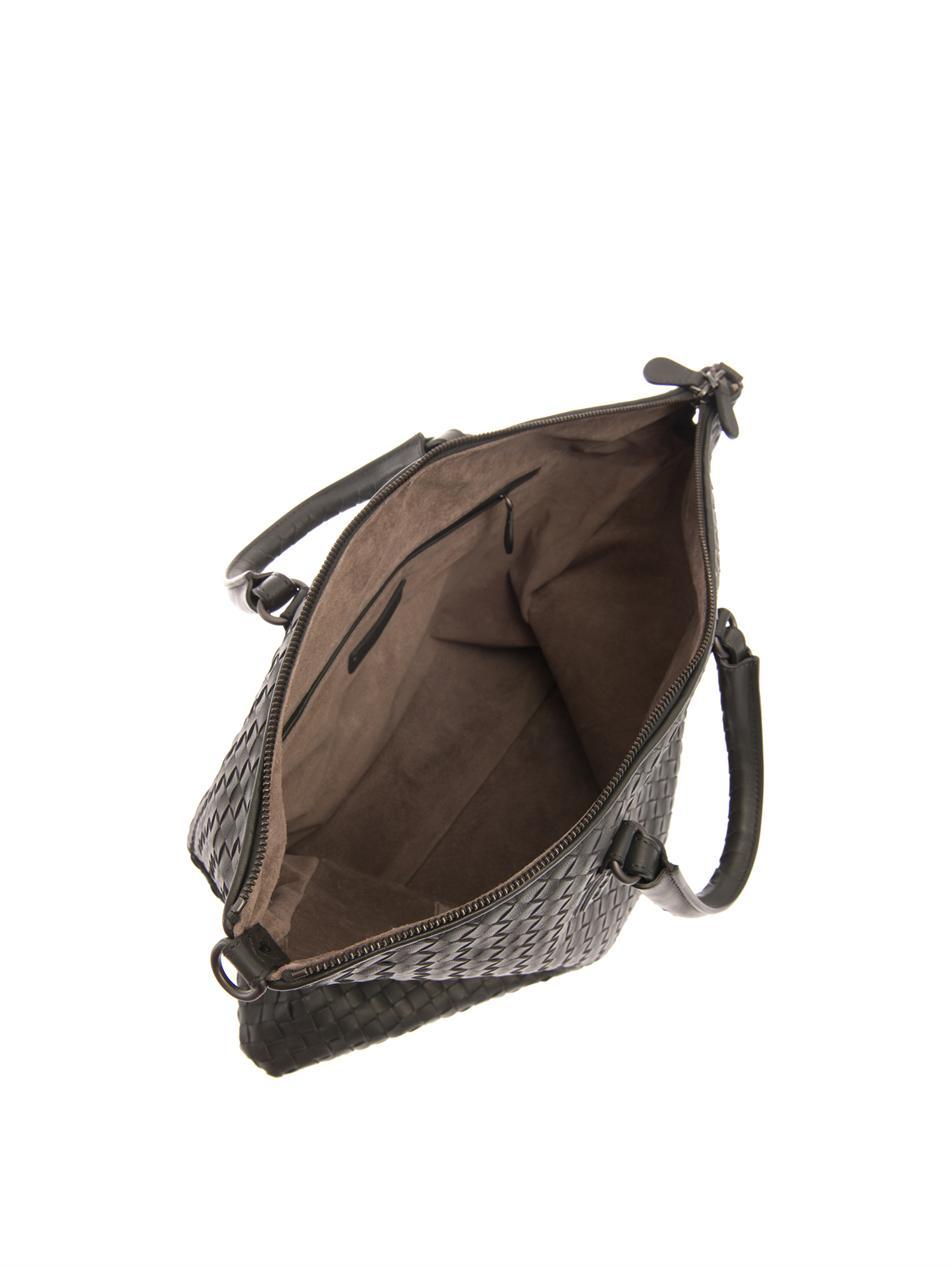 Bottega veneta Intrecciato Leather Convertible Tote in Gray (Grey . a8f70a88a88fb