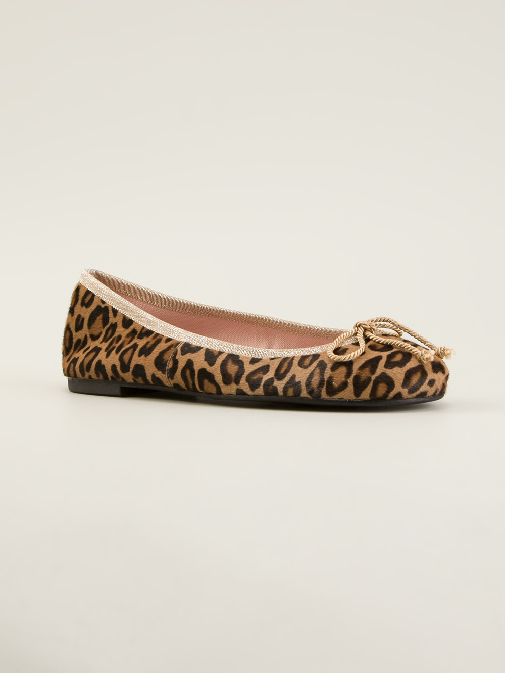 Lyst Pretty Ballerinas Leopard Print Ballerina