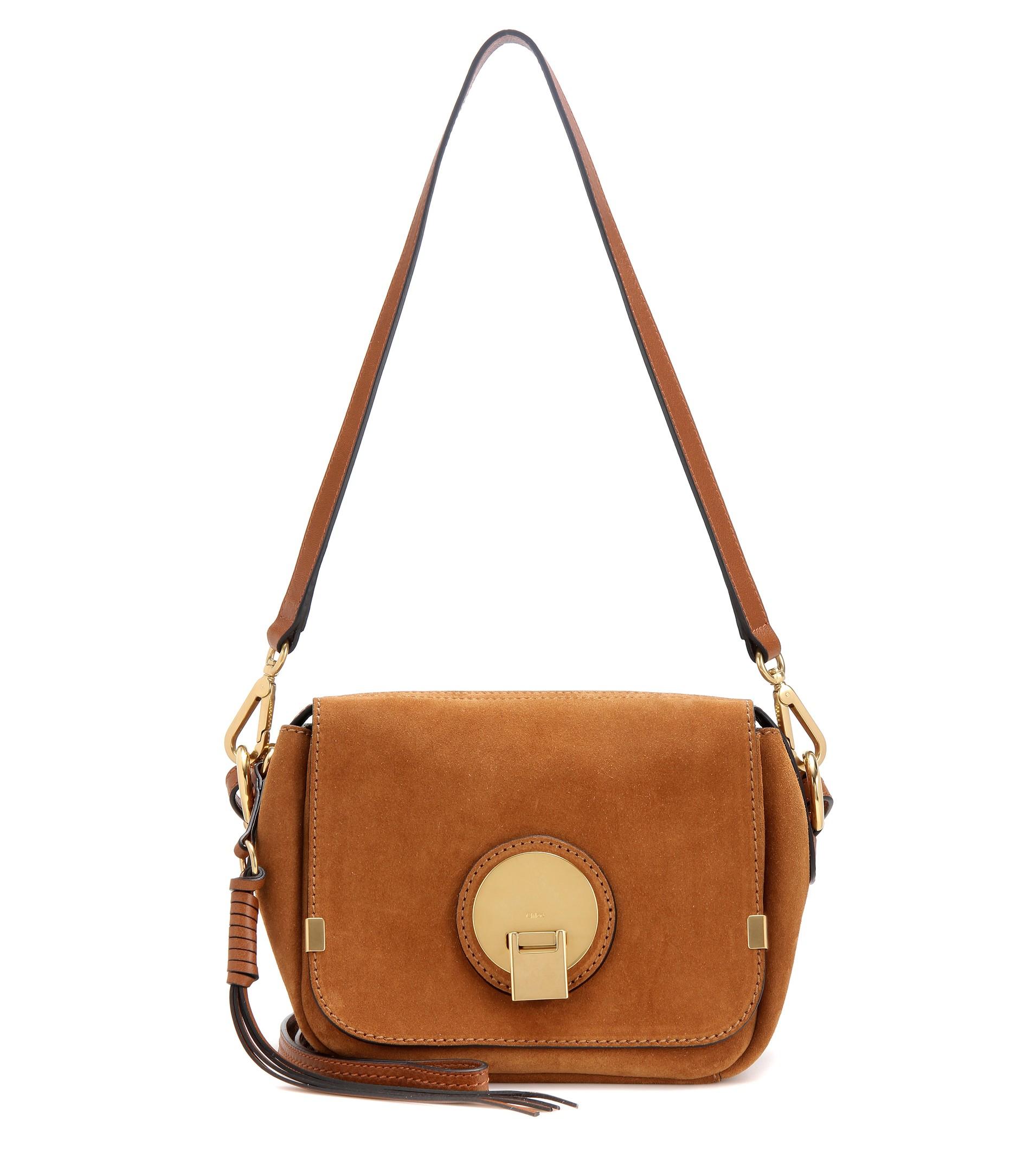 Chlo�� Indy Camera Bag Suede Shoulder Bag in Brown   Lyst
