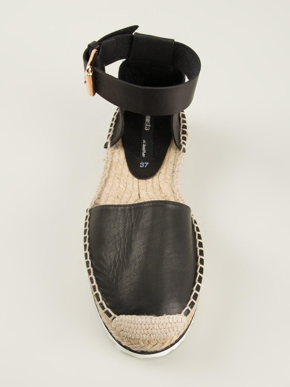 Miista Ankle Strap Espadrille In Black Lyst