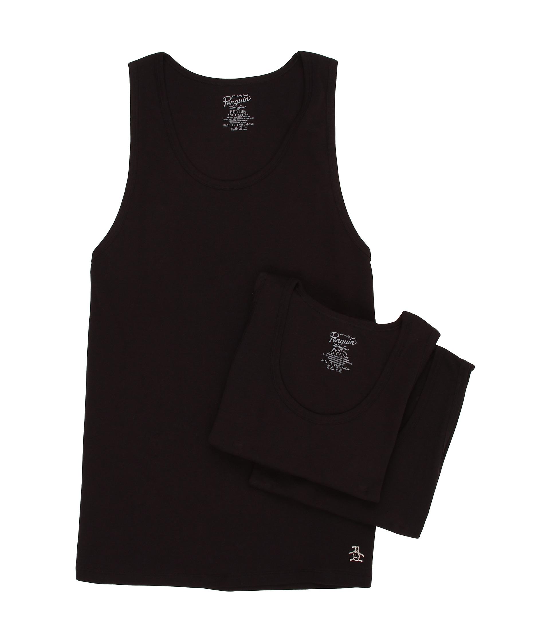 c547f0f44f2c3 Lyst - Original Penguin 100 Cotton 3 Pack Tank in Black for Men
