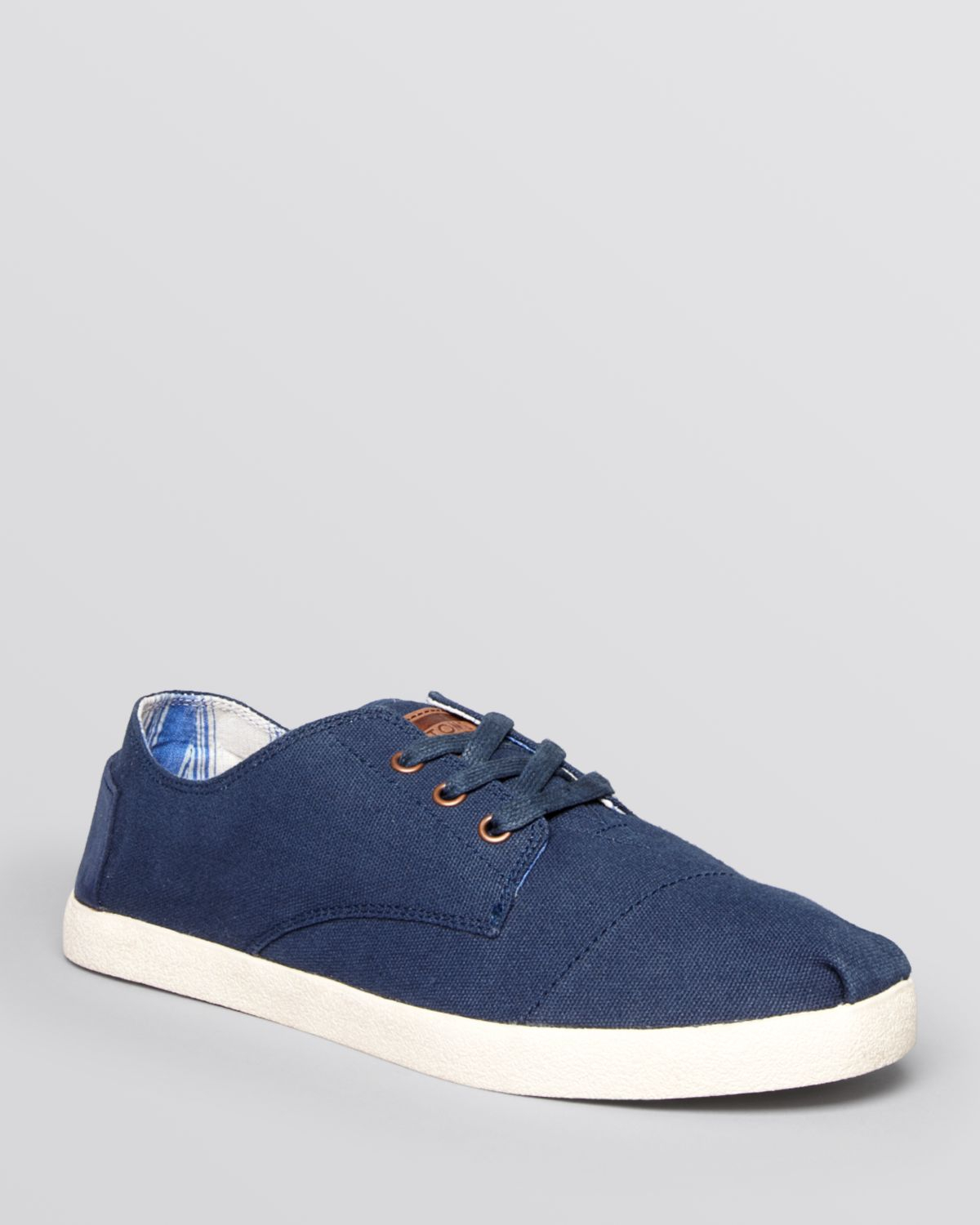 ac93b18d6ca Lyst - TOMS Paseo Canvas Lace-Up Sneakers in Blue for Men