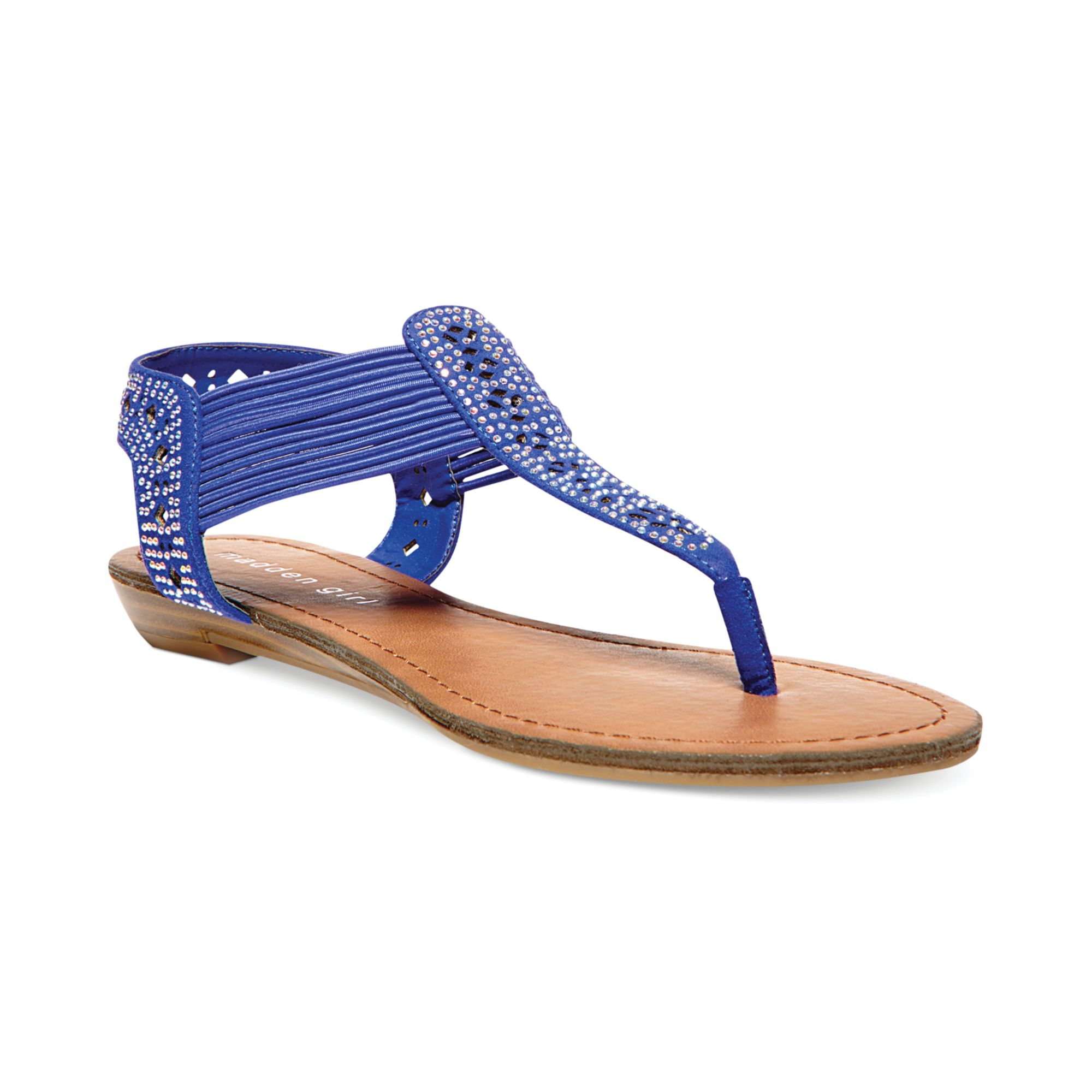 Lyst Madden Girl Taahnee Thong Sandals In Blue