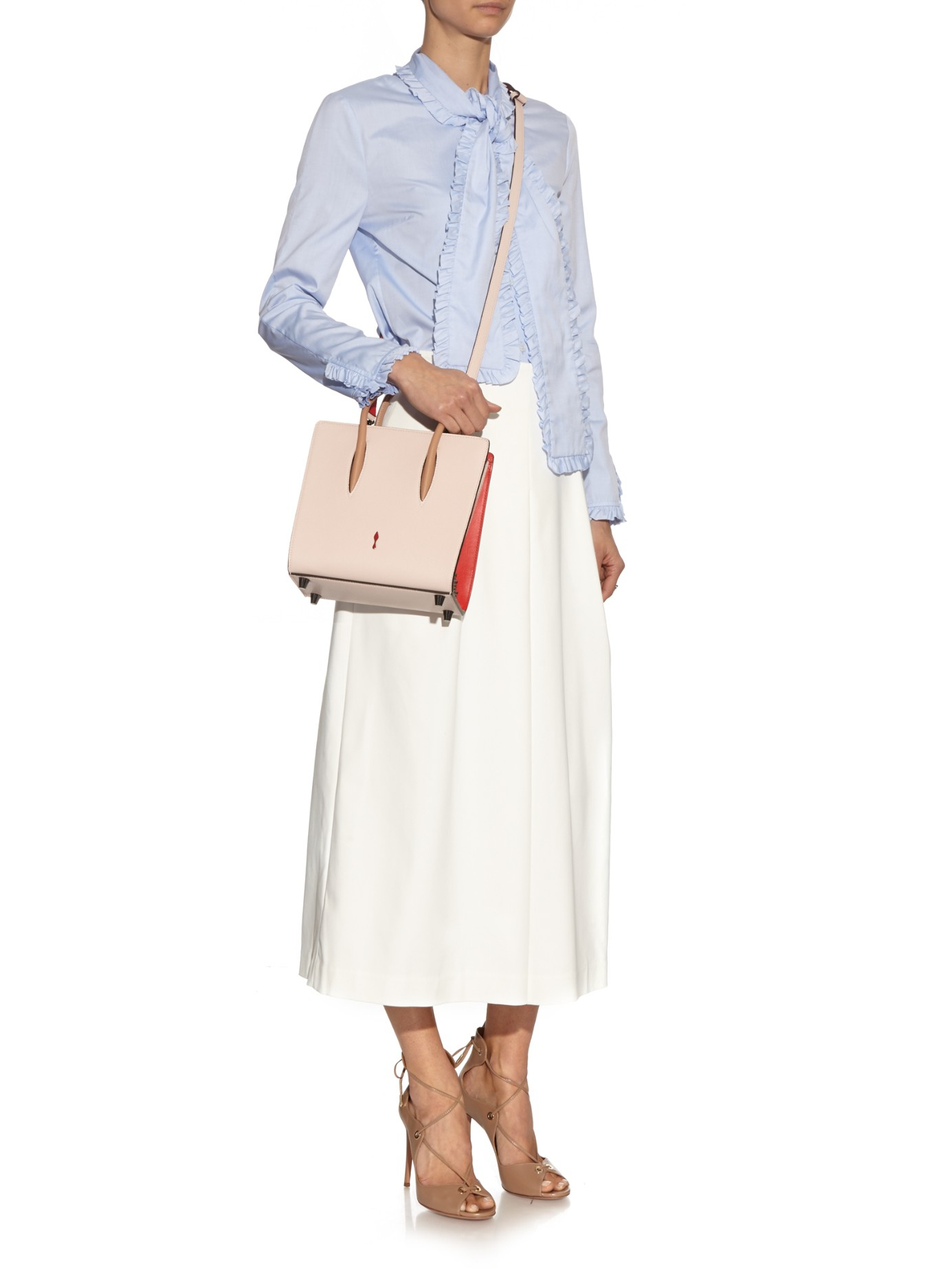 Lyst Christian Louboutin Paloma Small Leather Tote In