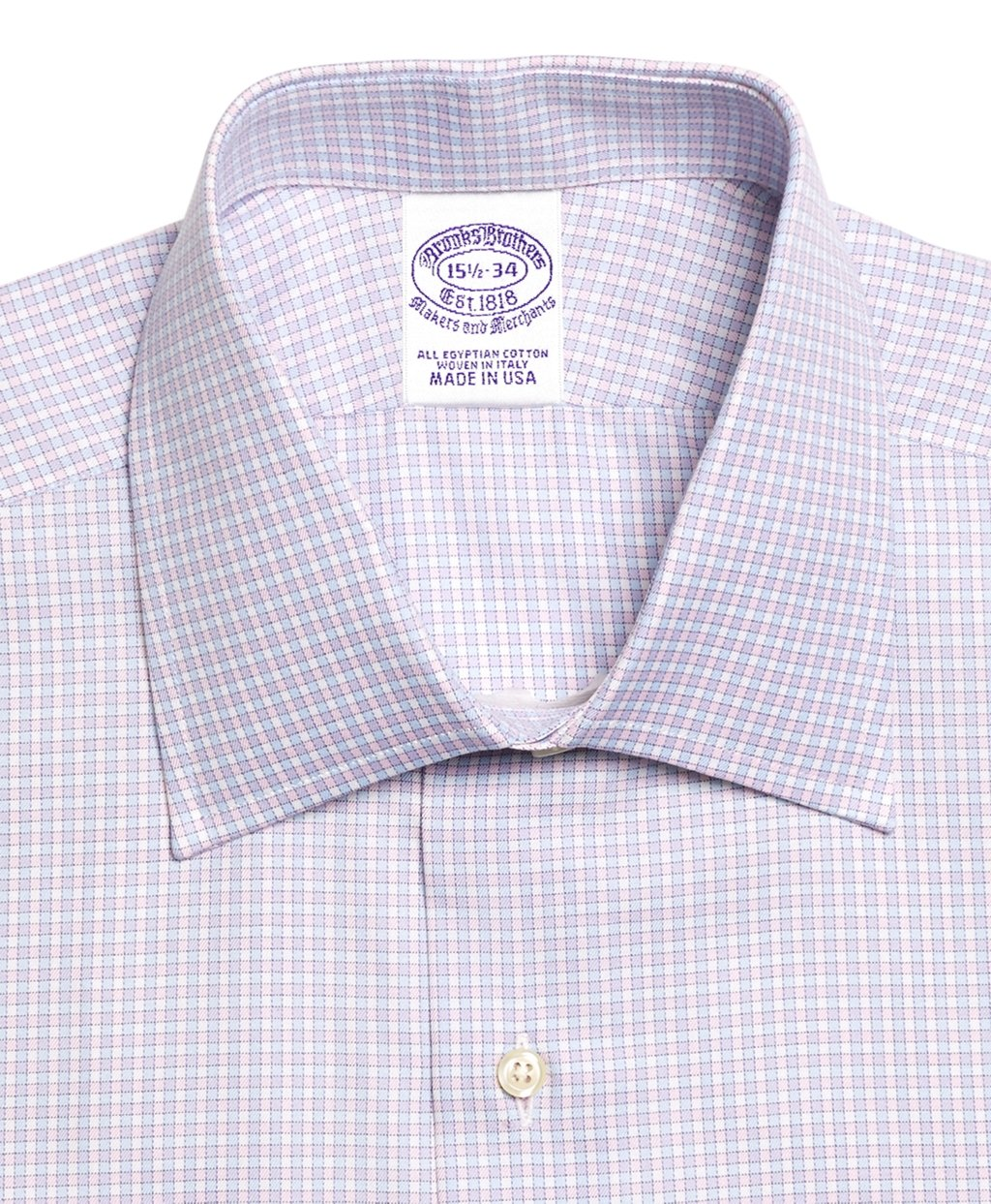 Lyst brooks brothers egyptian cotton extraslim fit for Gingham french cuff shirt