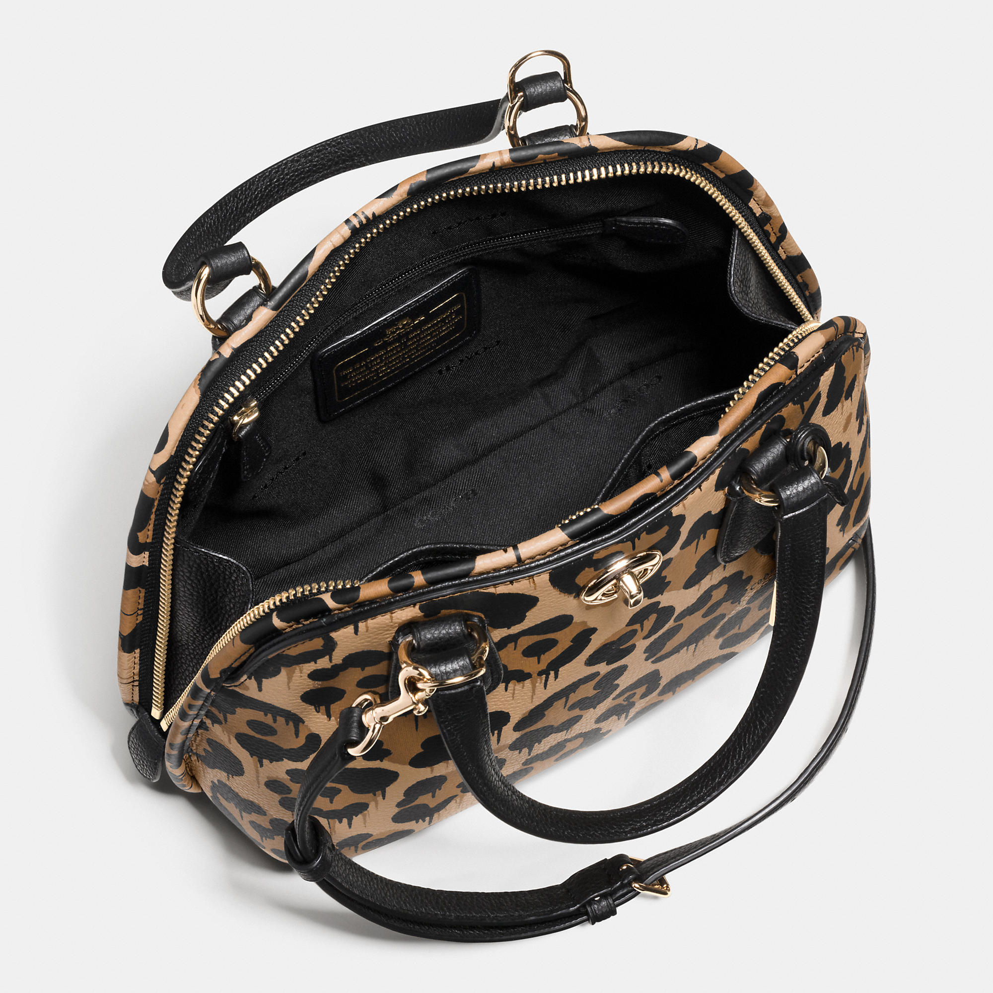 ... low price coach prince street mini satchel in wild beast print leather  42361 13829 sale coach edie handbag ... e11bc541b5e57