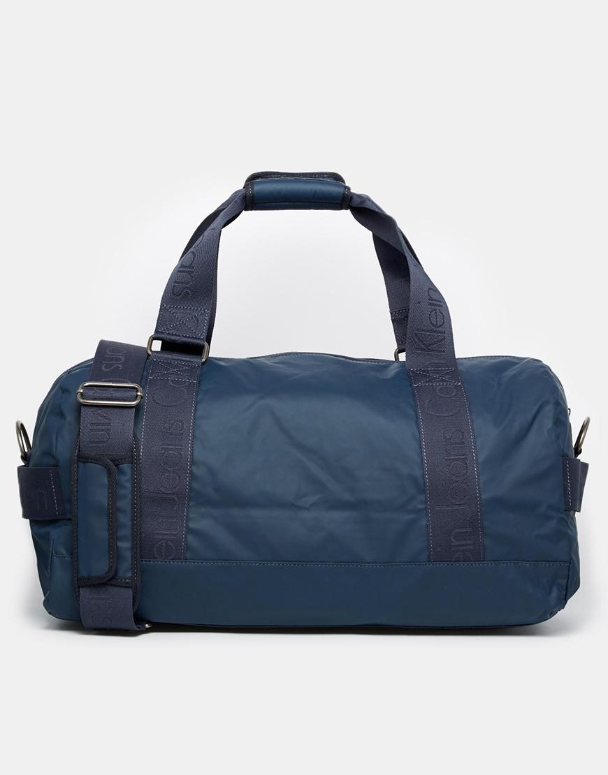 Calvin Klein Duffle Bag in Blue for Men