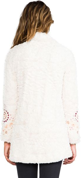 Free People Swing Faux Fur Coat in Ivory in White (Ivory) - Lyst