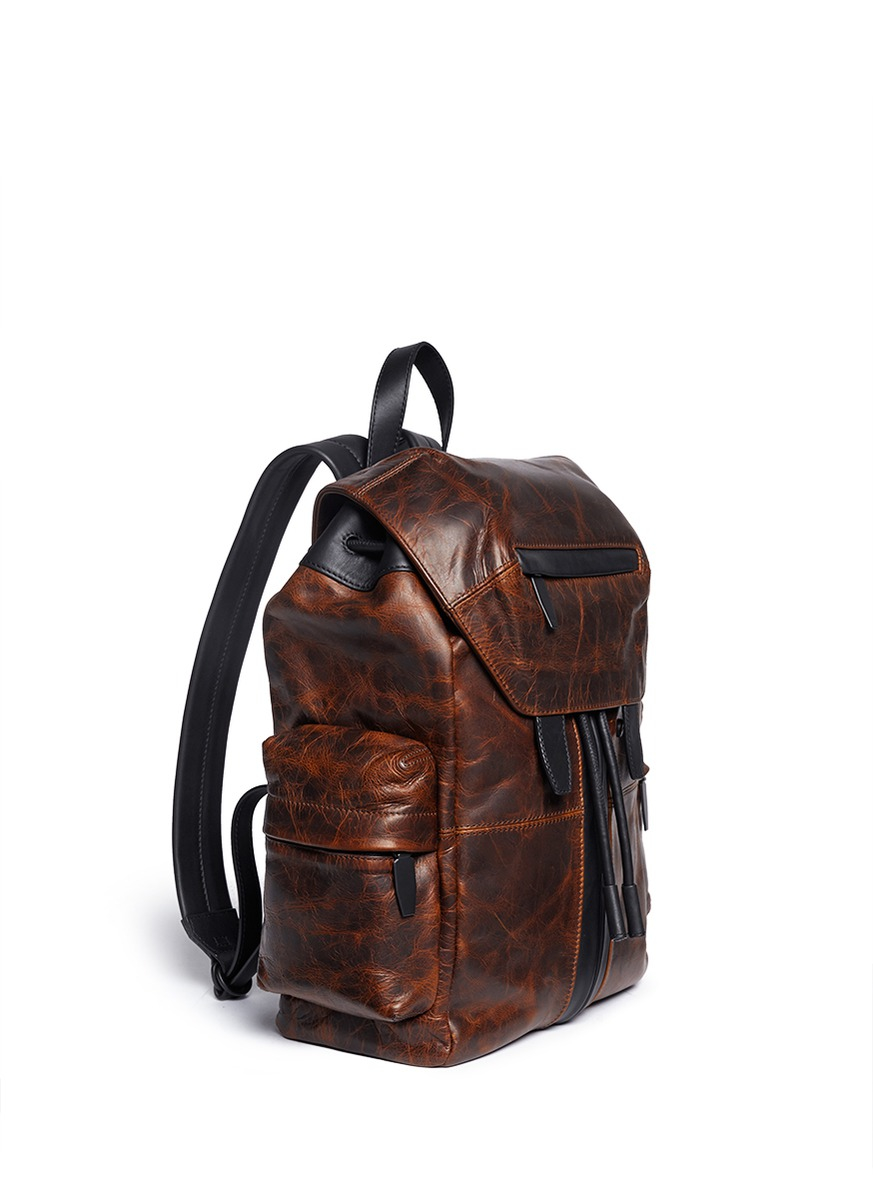 Alexander wang 'marti' Distressed Leather Backpack in Brown for ...