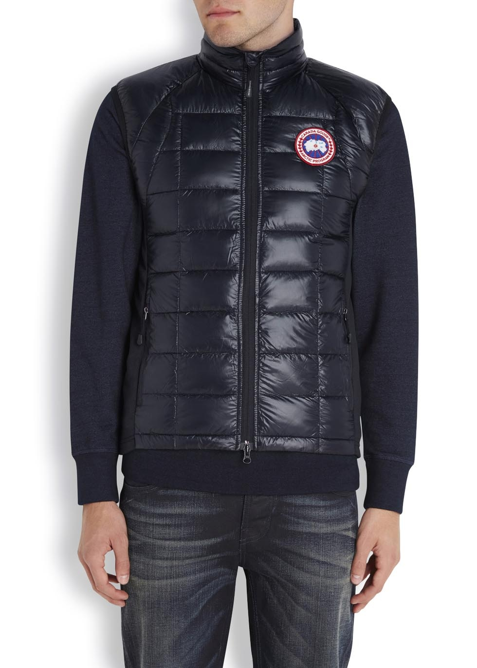 Canada Goose Hybridge Lite Black Quilted Gilet In Black