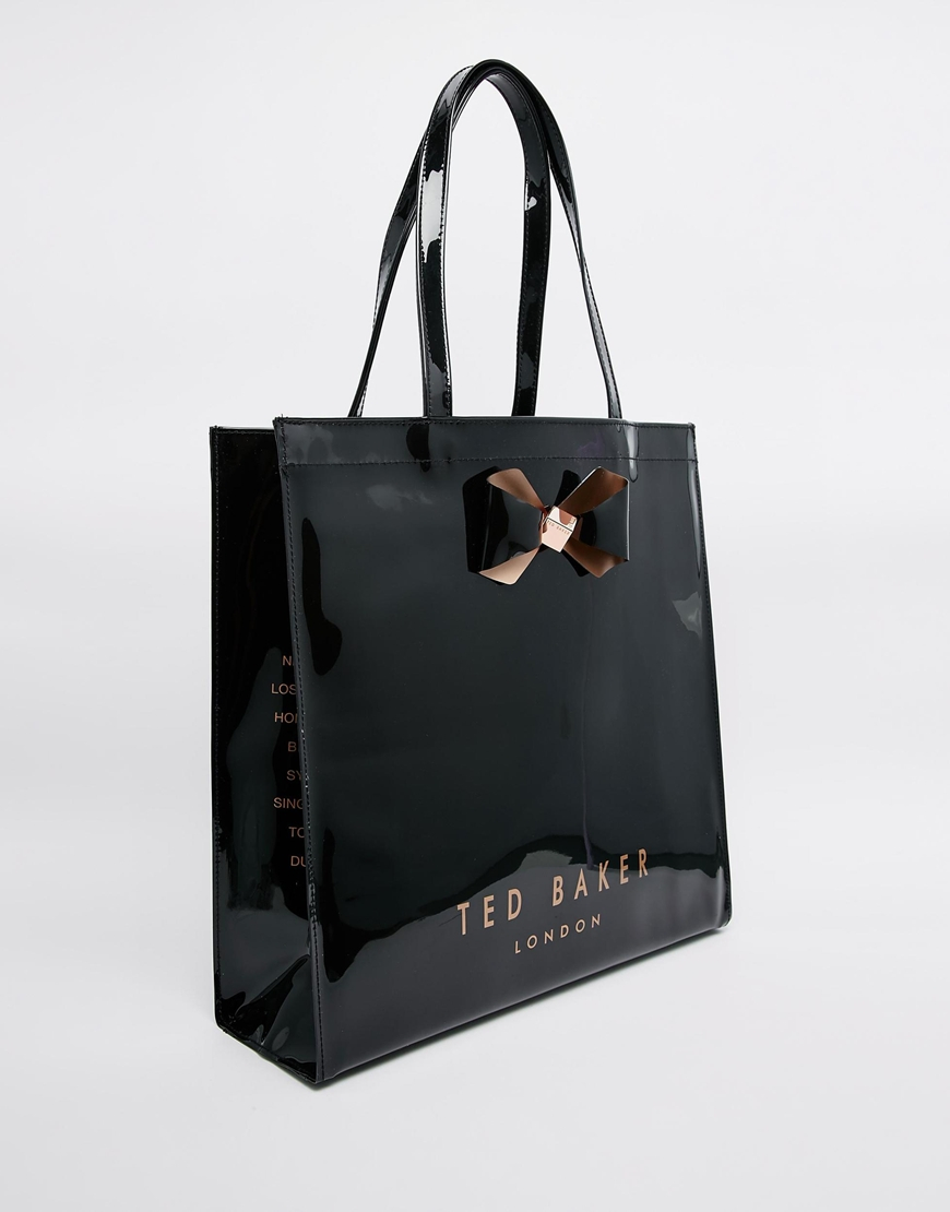 a4ae36e74a Ted Baker Plain Bow Large Icon in Black - Lyst