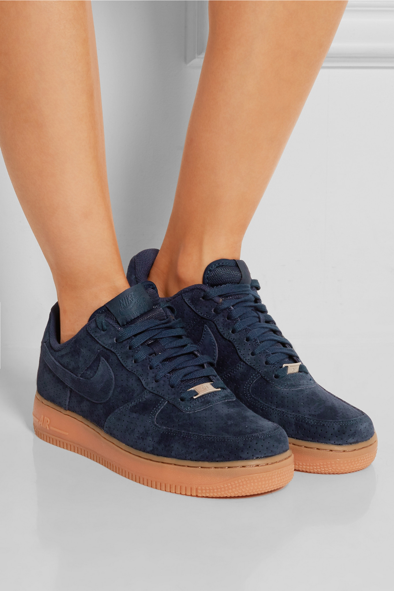 nike air force 1 upstep premium trainers in blue