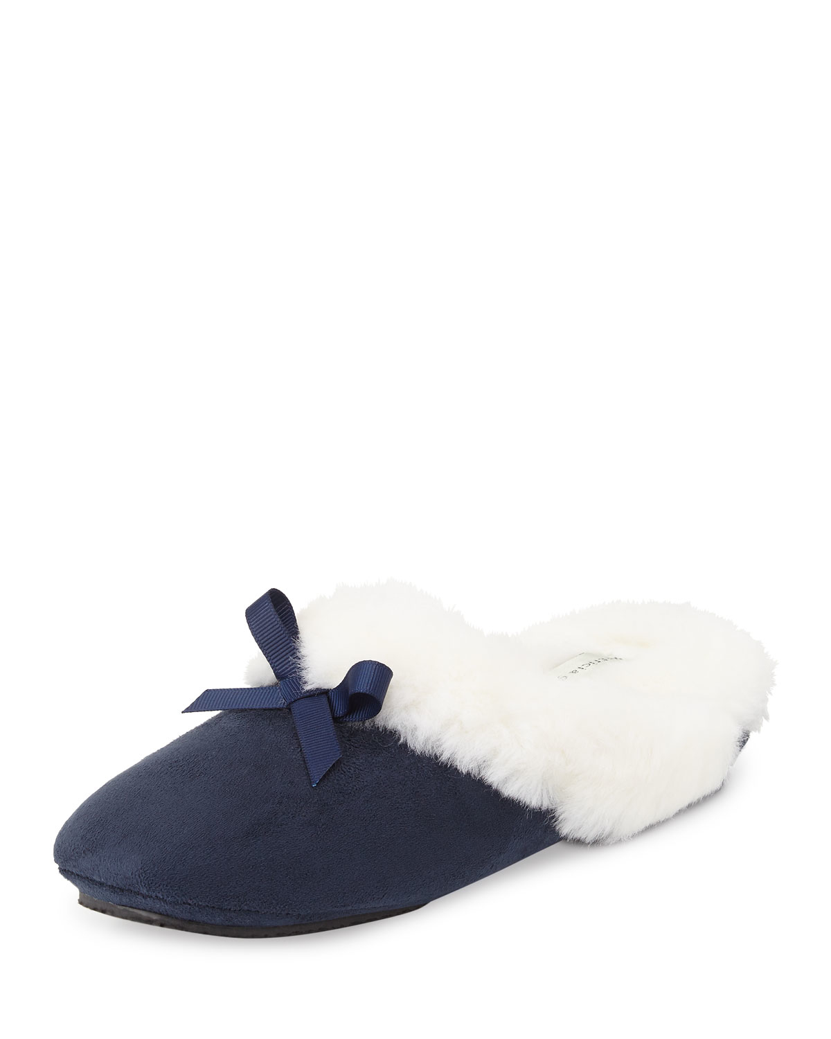 Patricia green Logan Faux-fur Suede Slipper in Blue