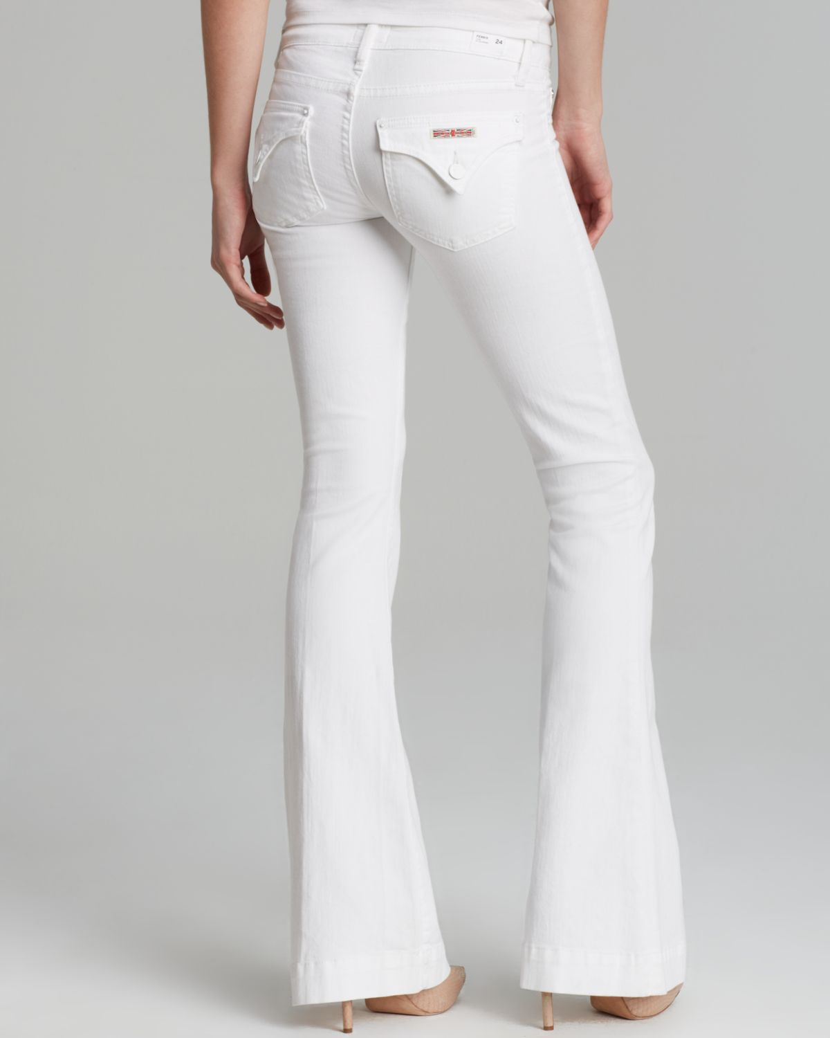 Hudson jeans Jeans Ferris Flare in White in White | Lyst