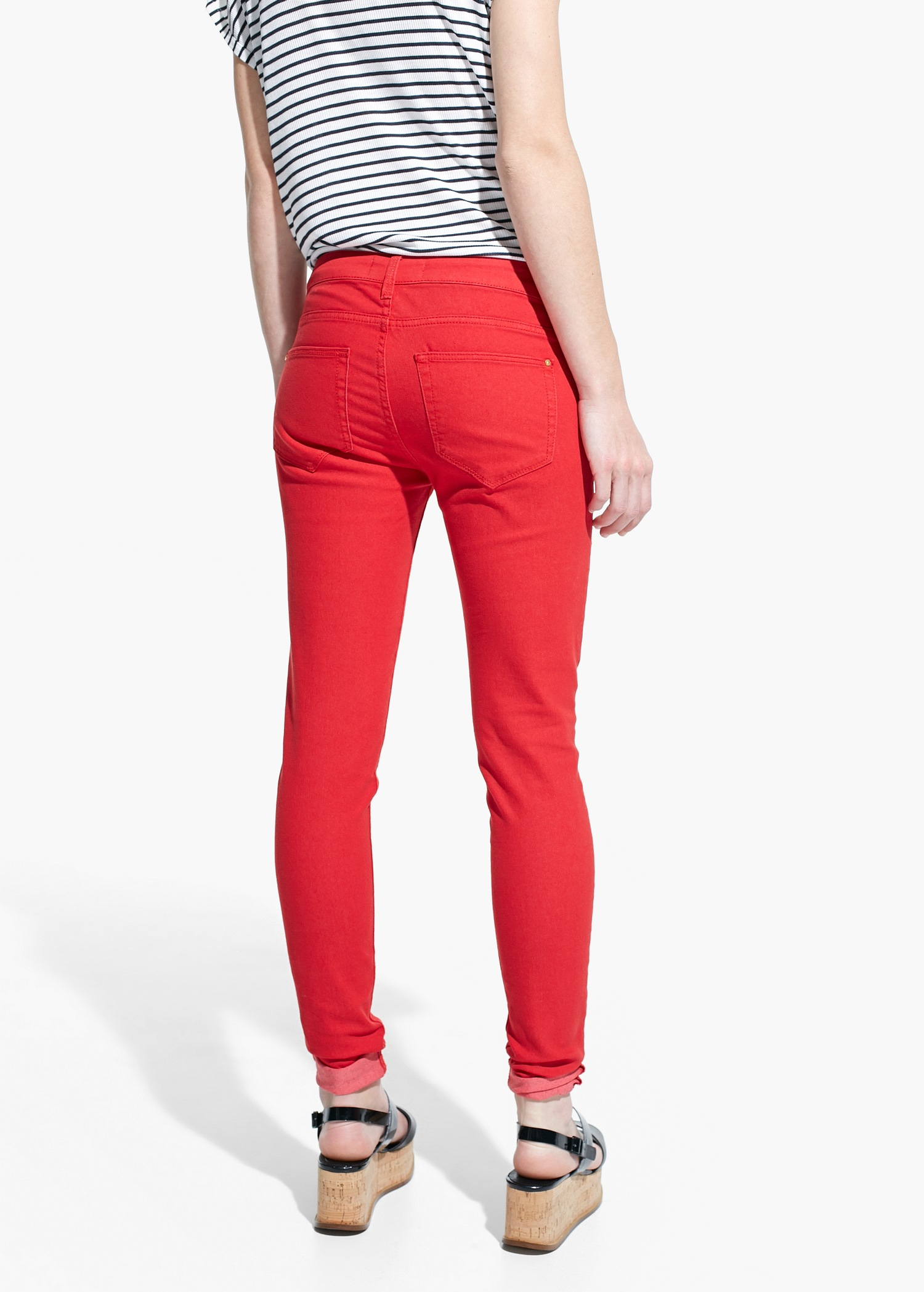 Mango Skinny Paty Jeans in Red
