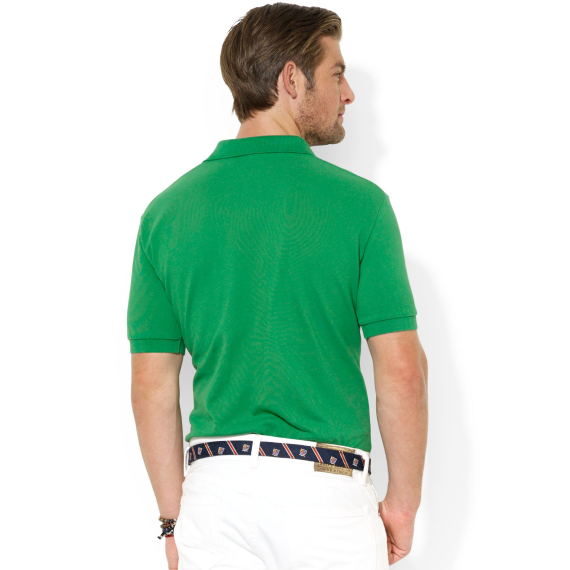 Ralph Lauren. Green Polo Classic Fit Shortsleeved Bear Polo