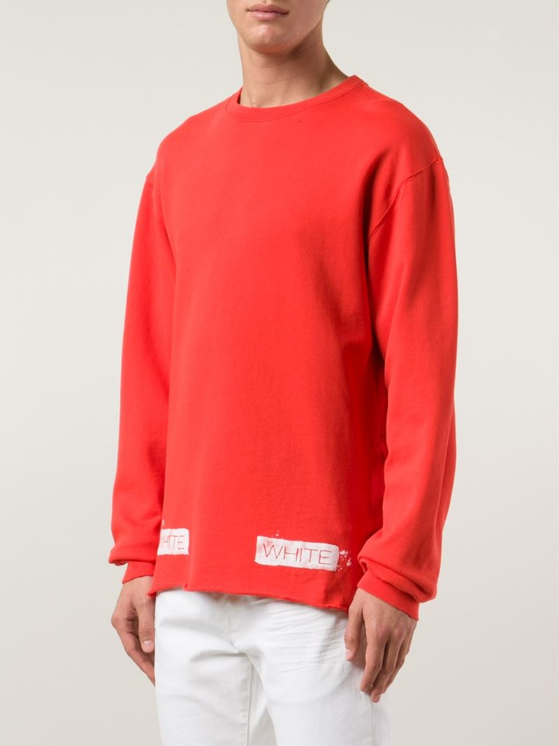 Off-white c/o virgil abloh Logo Printed Sweatshirt in Red for Men ...