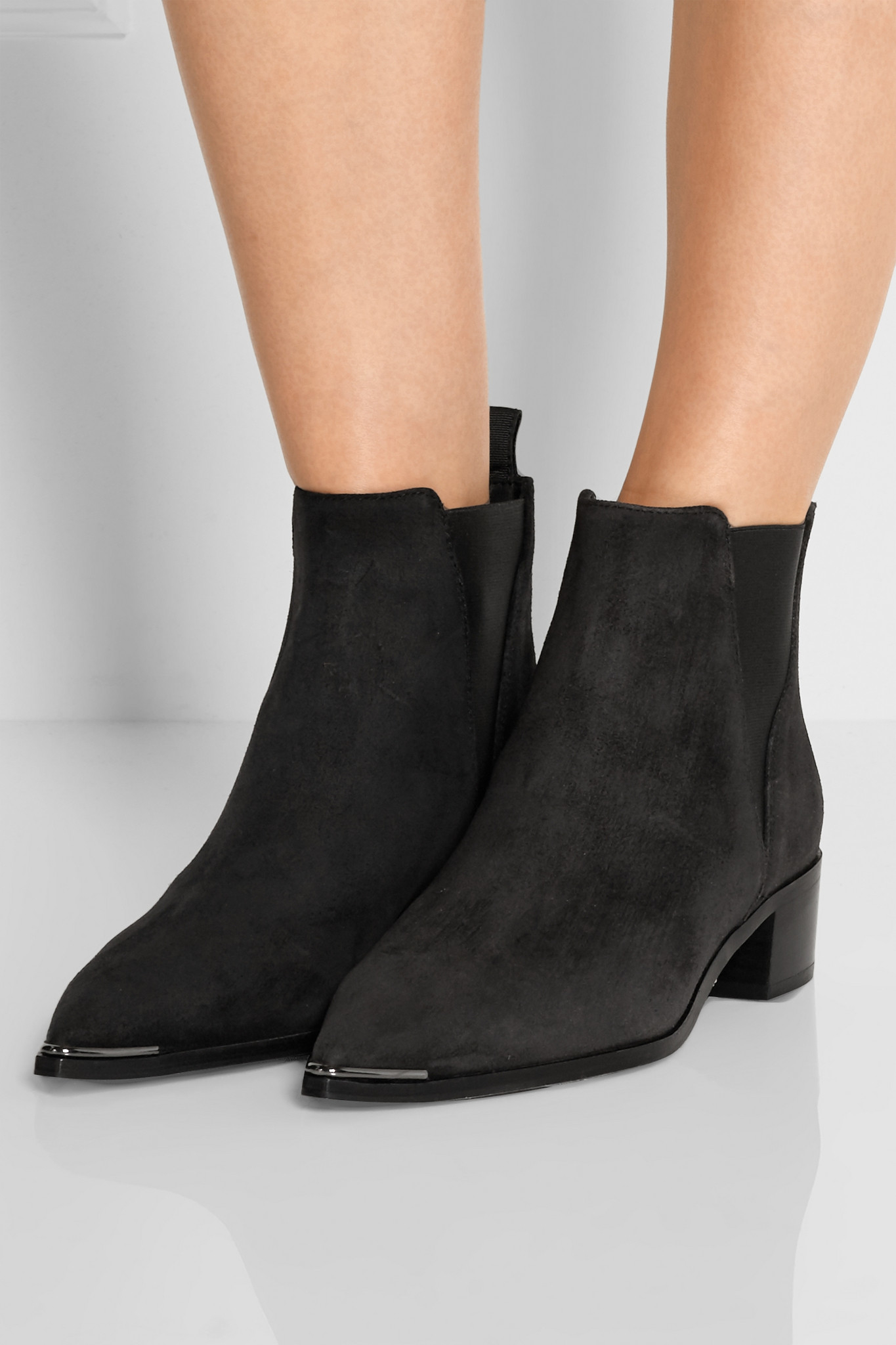 acne jensen suede ankle boots in black lyst. Black Bedroom Furniture Sets. Home Design Ideas