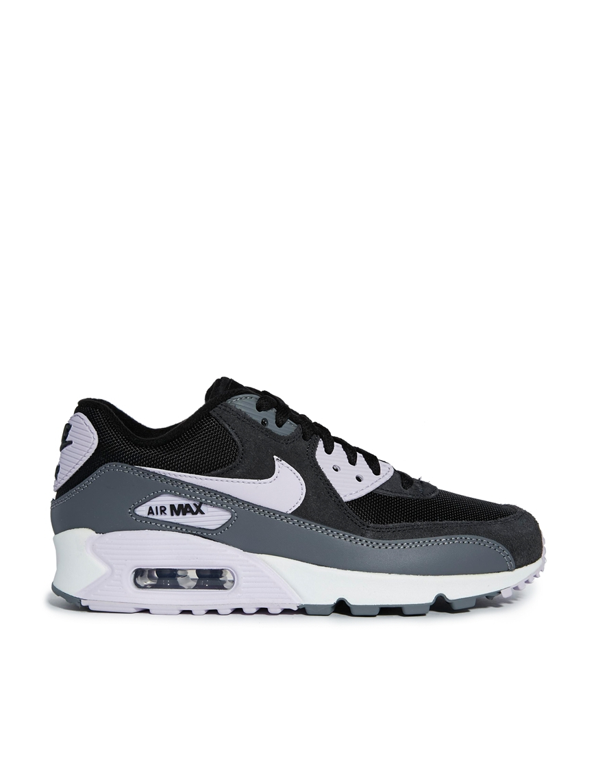 lyst nike air max 90 essential black trainers in gray. Black Bedroom Furniture Sets. Home Design Ideas