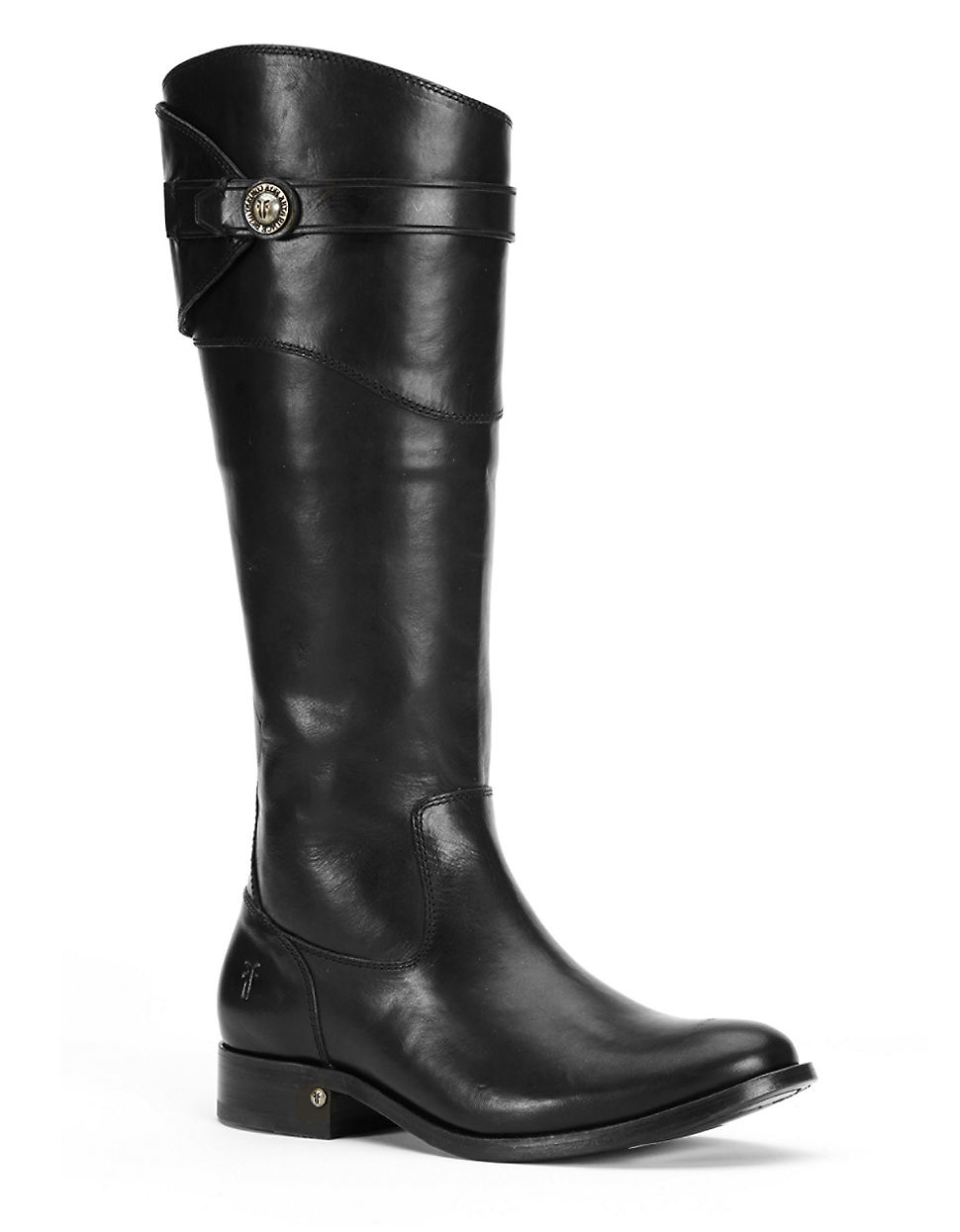 frye molly knee high leather boots in black lyst