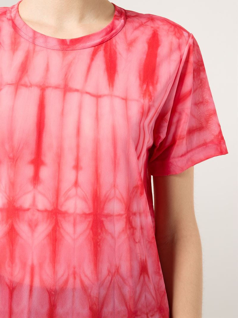 Lyst comme des gar ons tie dye print t shirt in pink for Tie dye printed shirts