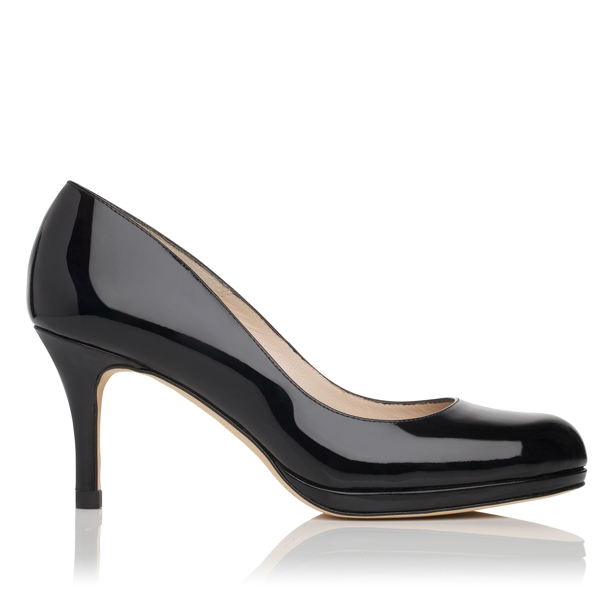 l k sybila patent leather court shoes in black lyst