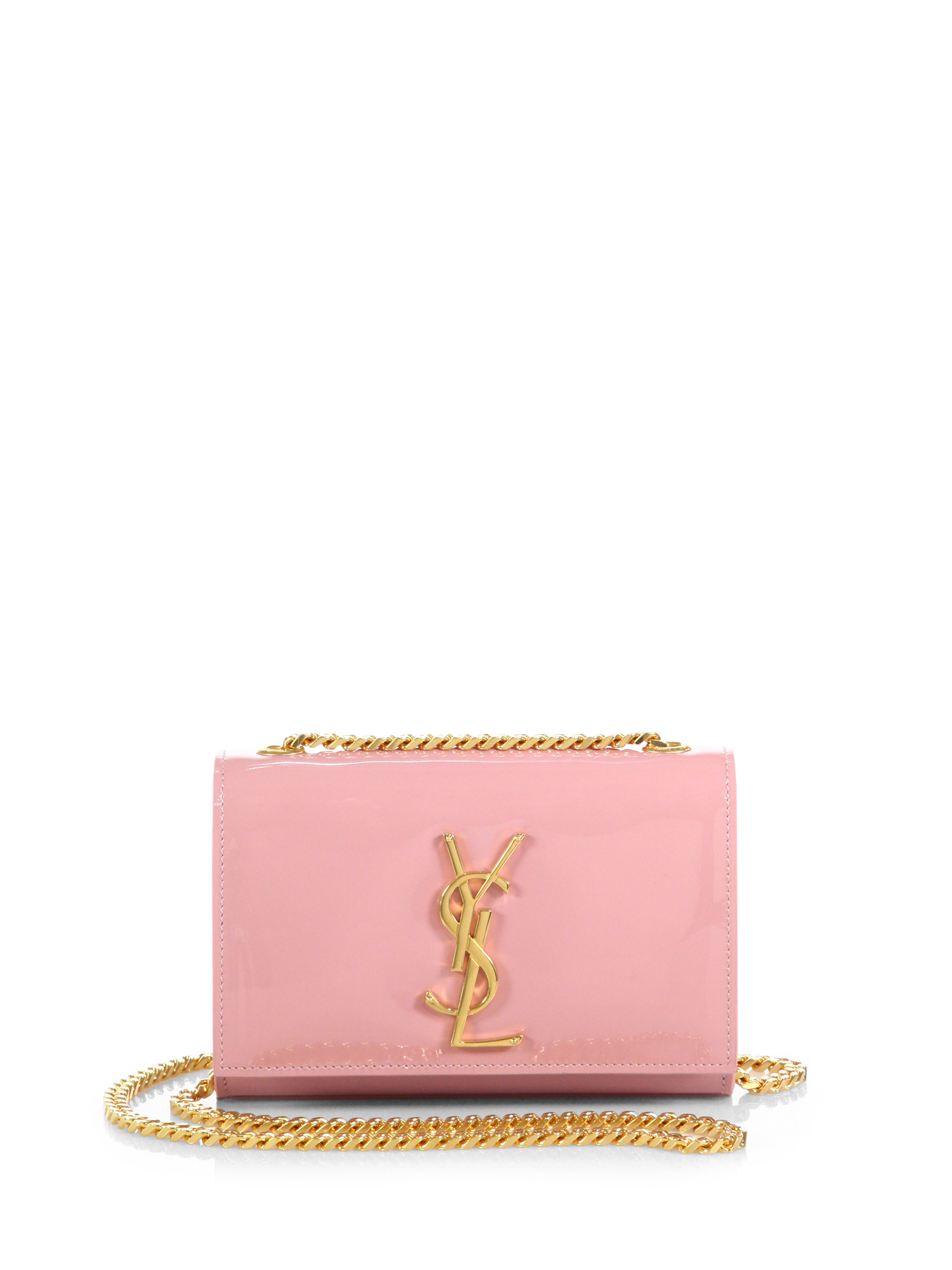 Lyst - Saint Laurent Monogram Small Patent Leather Chain Crossbody ... b0447e19f5