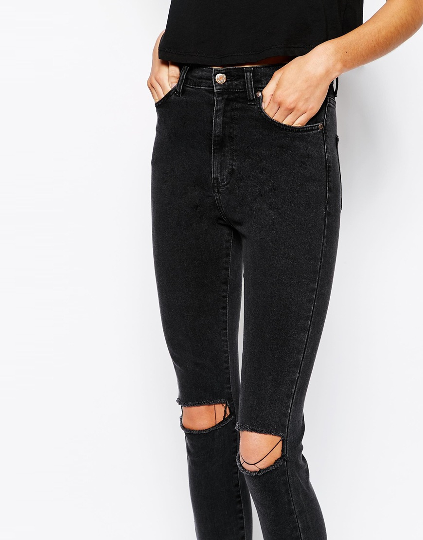 Dr. denim Cropa Cabana High Waist Cropped Skinny Jeans With Ripped ...