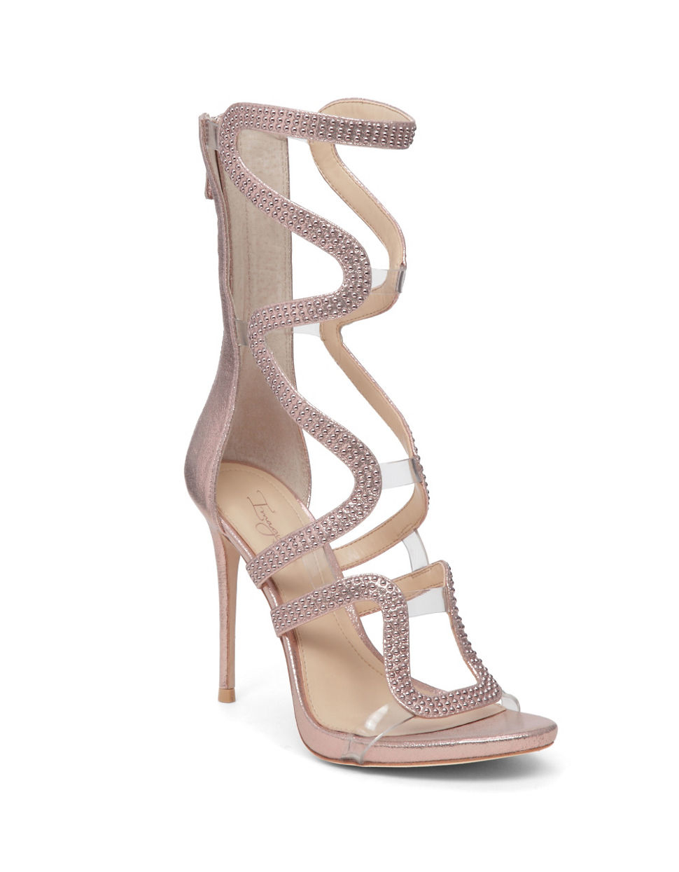 Imagine Vince Camuto Synthetic Dash Shimmer Sandals Lyst