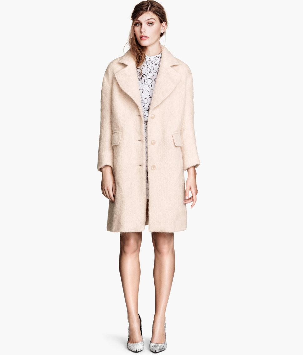 H&m Coat in Pink | Lyst