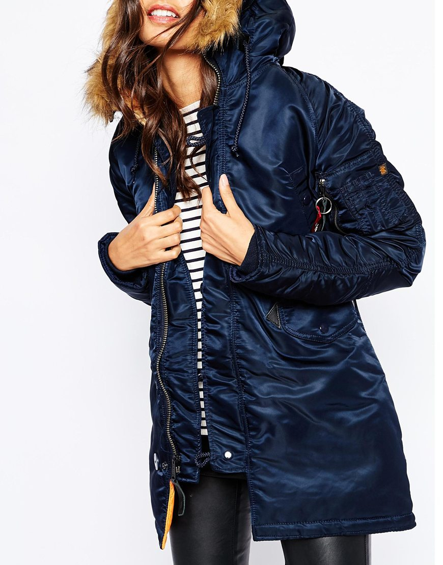 Alpha industries N3b Vf Parka Coat With Faux Fur Hood & Contrast ...