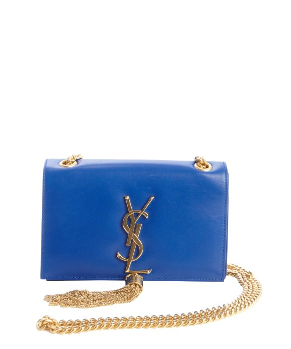 Lyst Saint Laurent Cobalt Blue Leather Ysl Detail