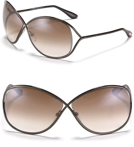 tom ford miranda crossover metal sunglasses in brown shiny rhodium. Cars Review. Best American Auto & Cars Review