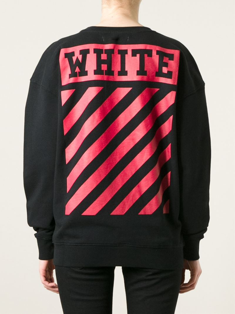 Off-white c/o virgil abloh Nebraska Print Sweatshirt in Black | Lyst