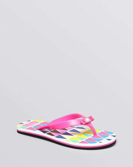 Kate Spade Flip Flops Fiji In Multicolor Vivid Snapdragon