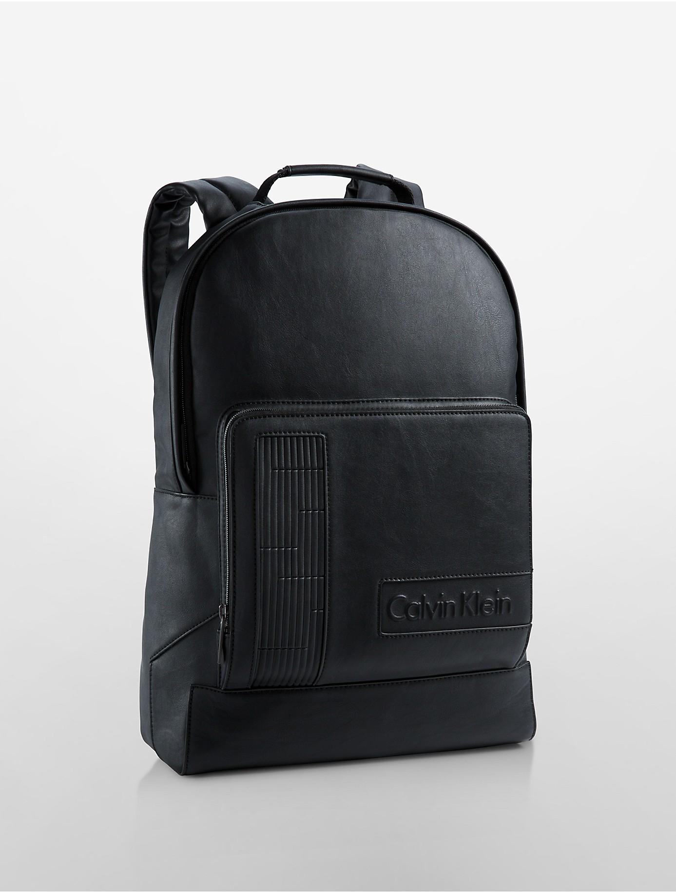 Calvin Klein White Label Devin Slim Backpack In Black For