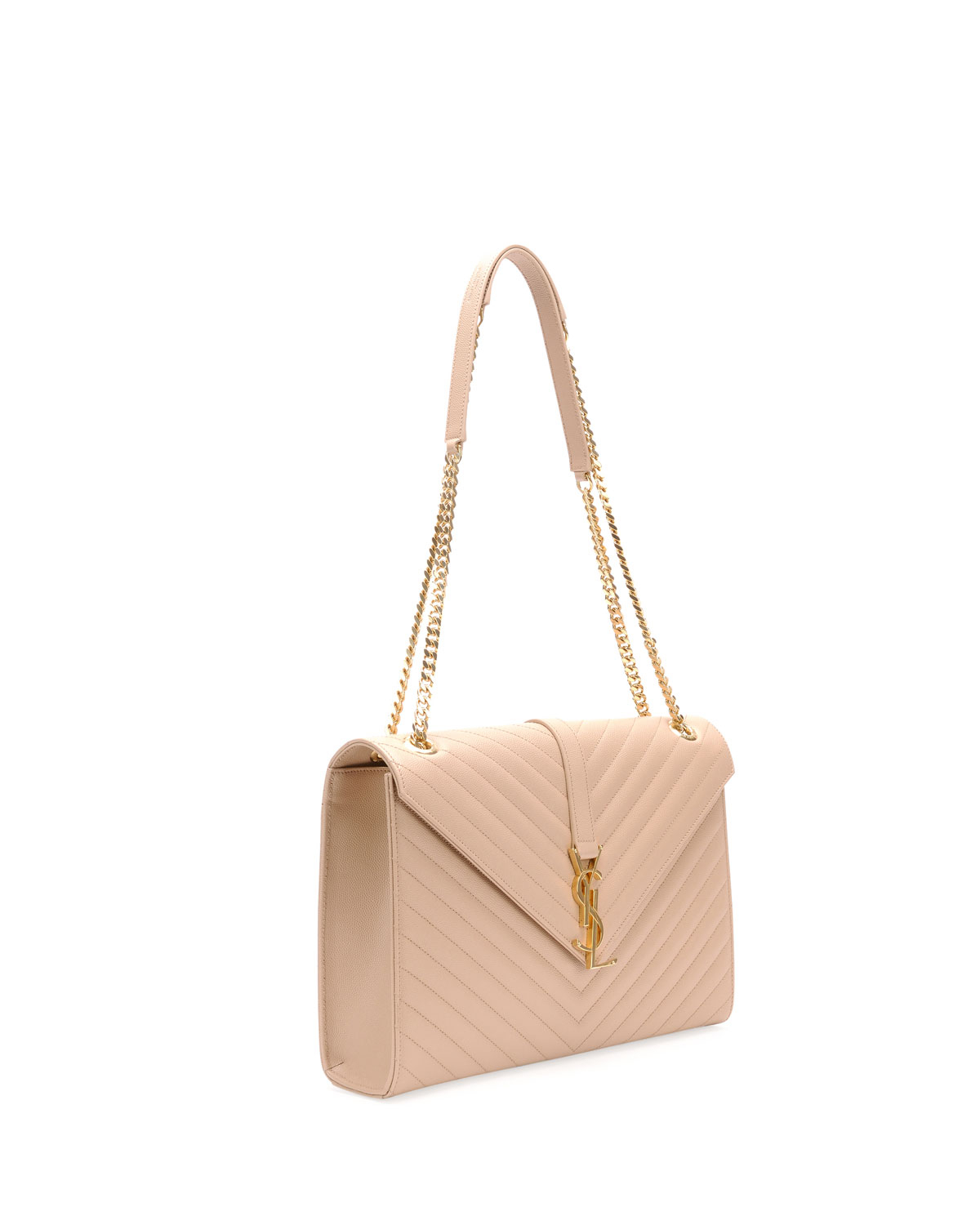 462b4dee02 Lyst - Saint Laurent Monogram Matelasse Shoulder Bag in Pink
