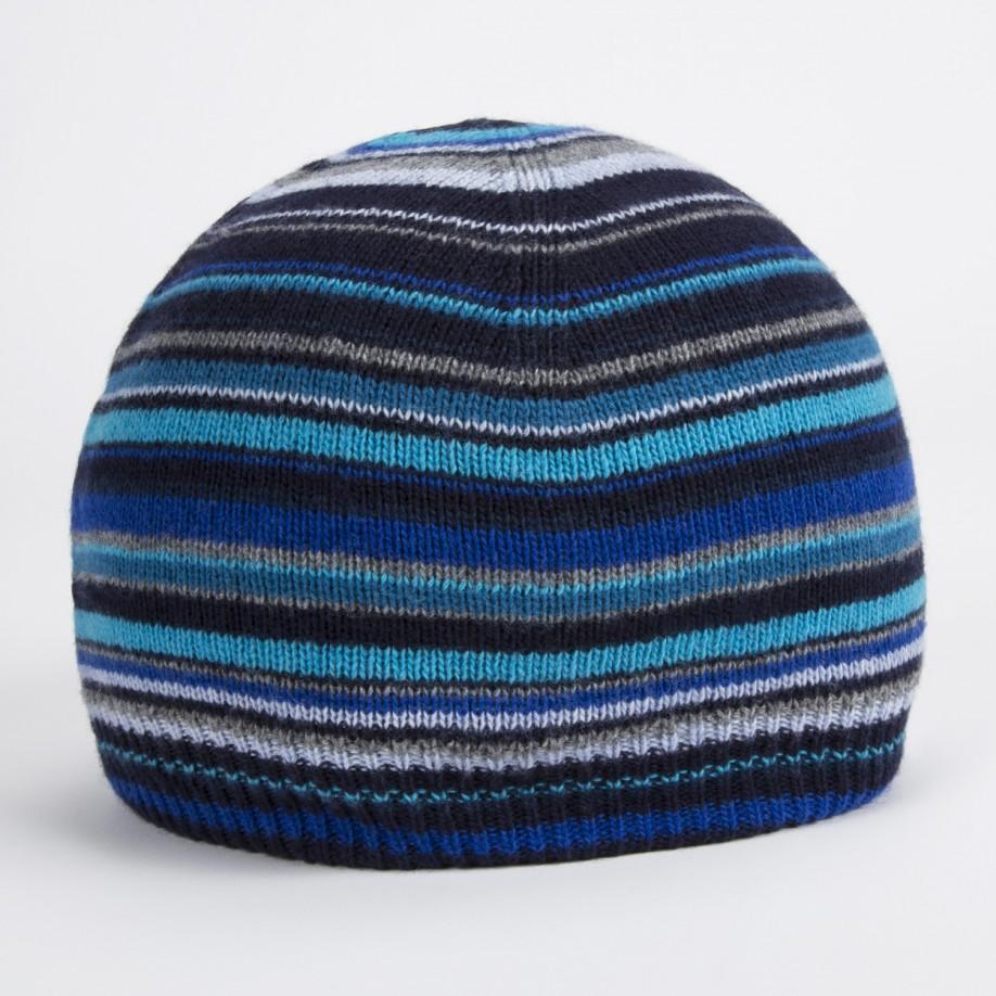 76700dcd81a70 Paul Smith Men s Blue Signature Stripe Wool-blend Beanie Hat in Blue ...