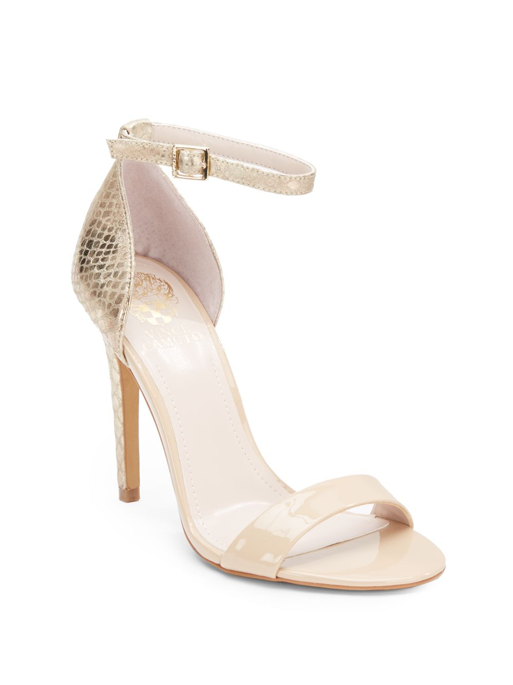 82f8a18ef45 Lyst - Vince Camuto Allison High-Heel Sandals in Metallic