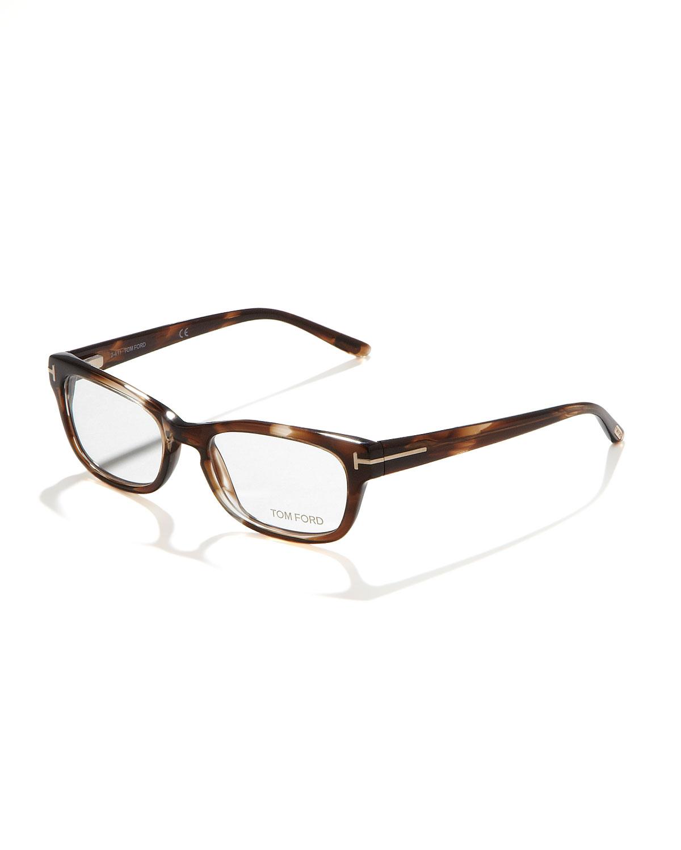 ce37cf461b3 Lyst - Tom Ford Unisex Semirounded Rectangular Fashion Glasses ...