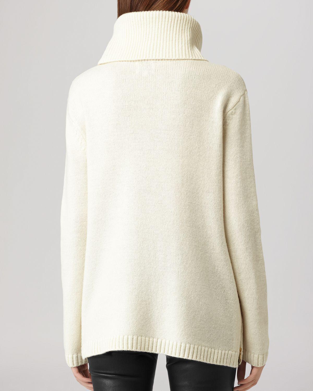 Lyst Reiss Sweater Malin Turtleneck Zip Detail In White