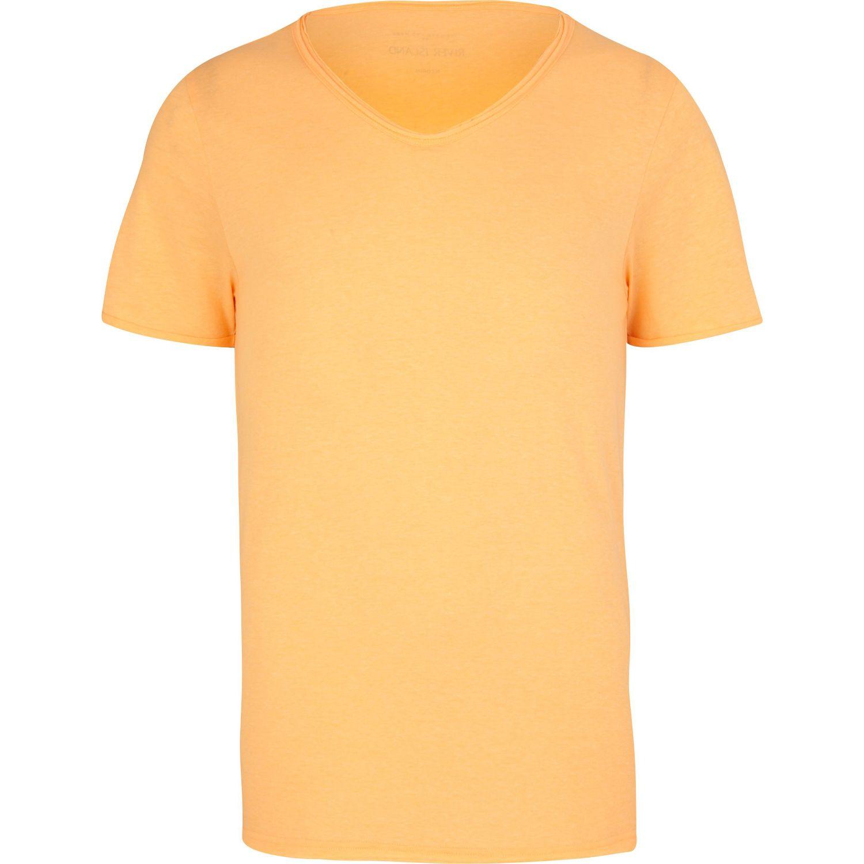 Lyst River Island Fluro Orange Low Scoop Tshirt In