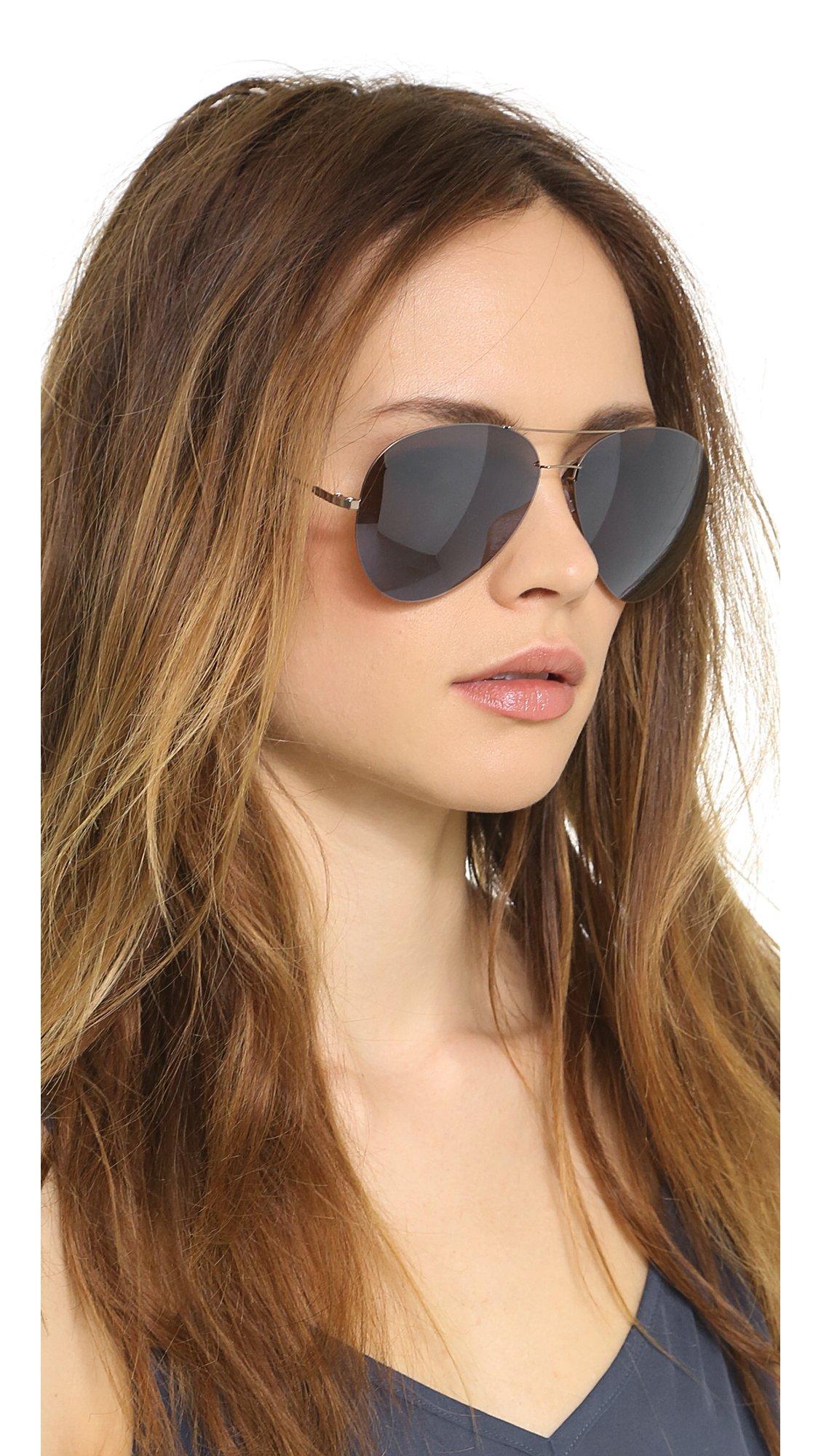 Lyst - Victoria Beckham Feather Aviator Sunglasses