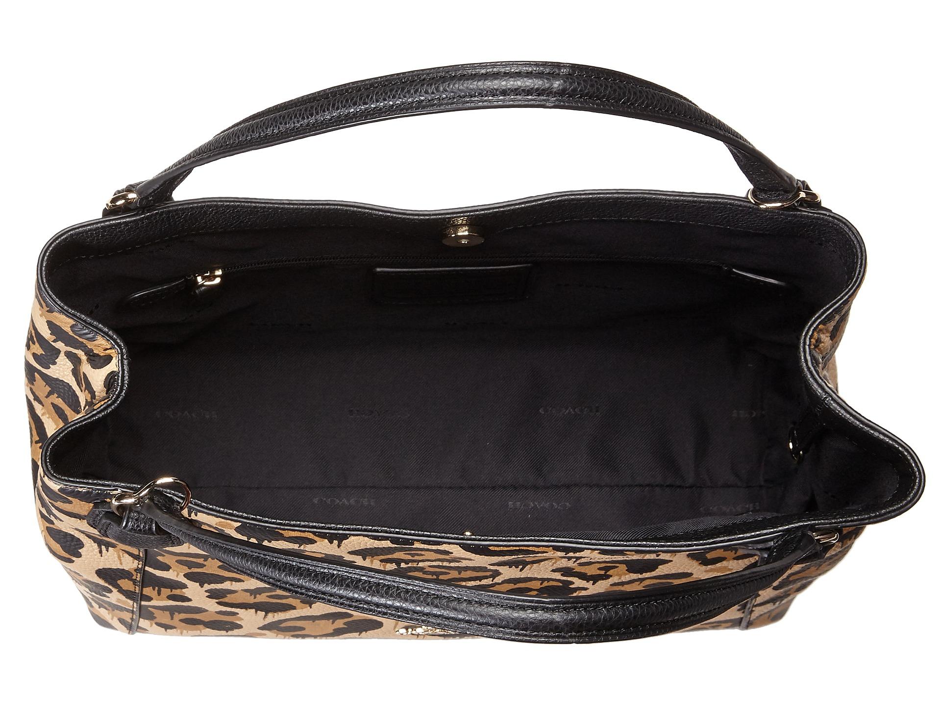 ... Wild Beast Drip Leopard Leather Ocelot Print Edie 28 Shoulder Bag Coach  Leopard Ocelot Print Edie 28 in Brown Lyst ... 2cd634a0cc578