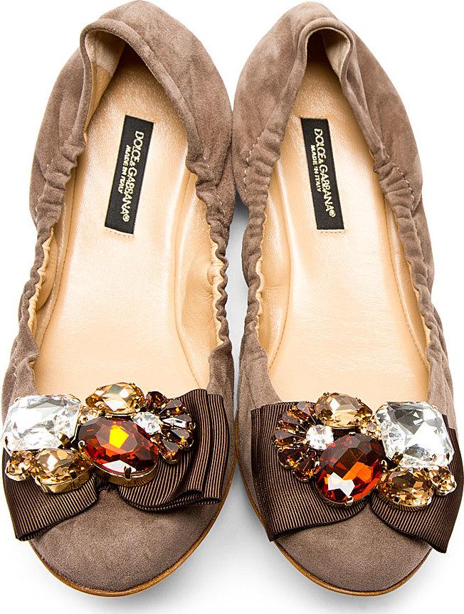 Dolce & Gabbana Suede & Satin Flats clearance big sale footlocker finishline cheap price FpdjiLyP
