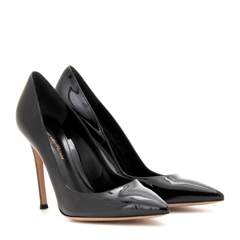 Gianvito rossi Patent Leather Pumps in Black | Lyst