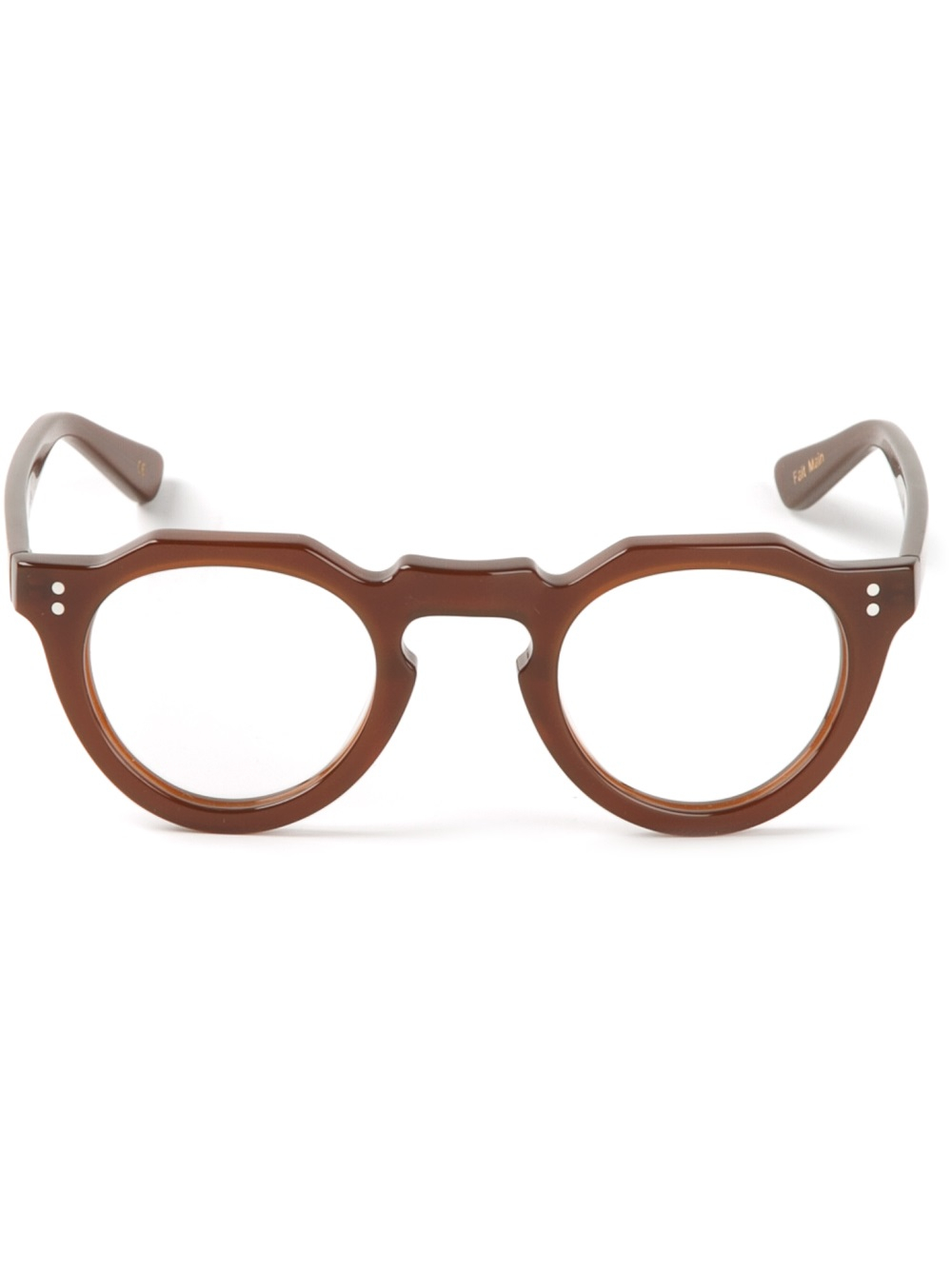 Lyst Lesca Round Glasses In Brown For Men