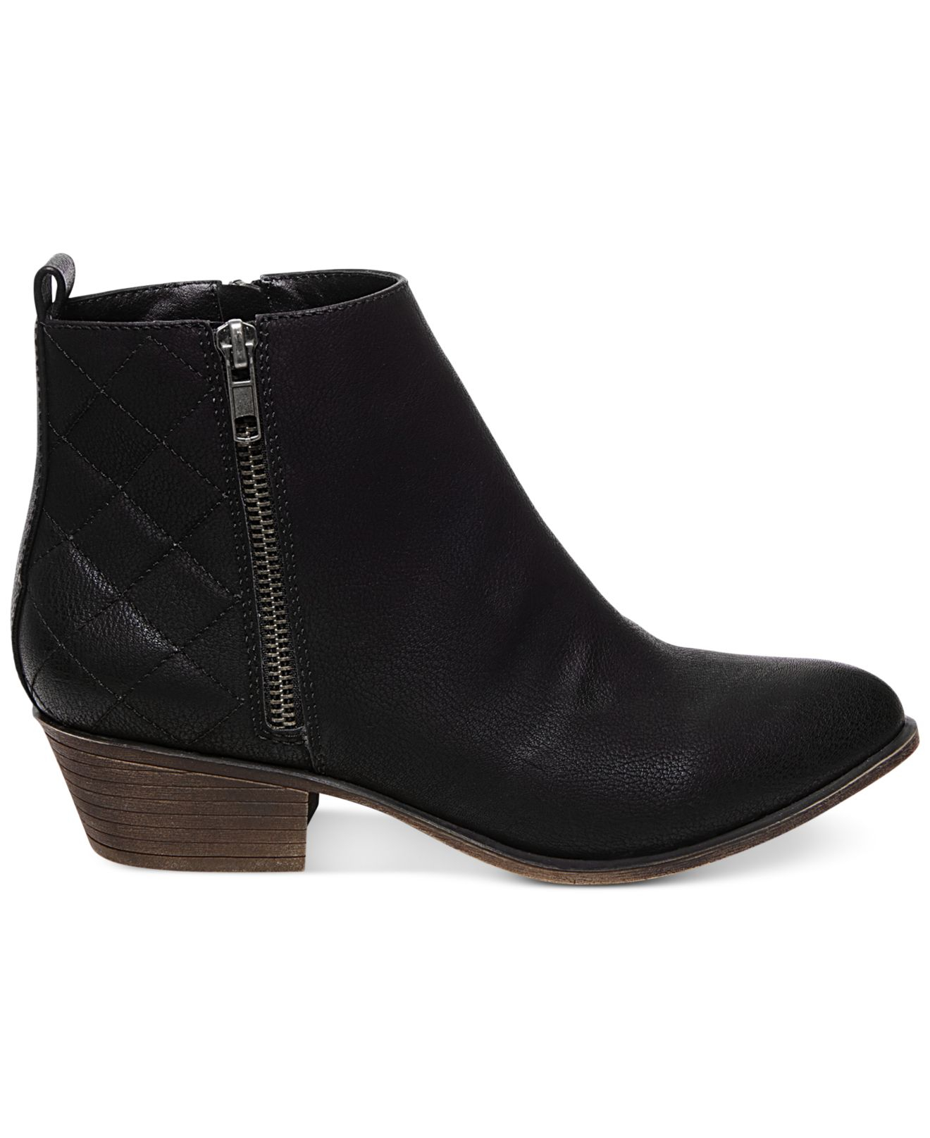Madden Girl Holywood Quilted Booties In Black Lyst